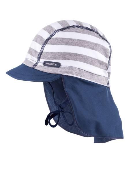 Bilde av Maximo - Solhatt med UV og nakke beskyttelse i bomull Blå/grå