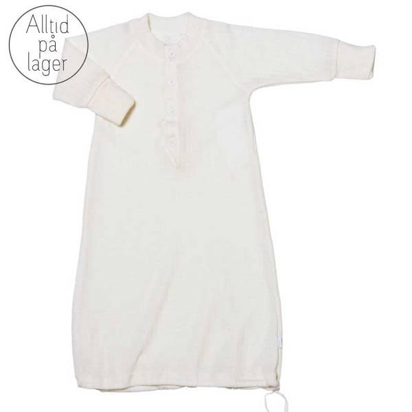 Bilde av Joha - Sovedrakt til baby i ull hvit