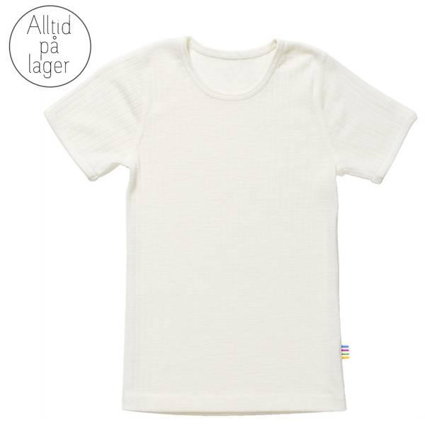 Bilde av Joha - T-skjorte i merinoull Off-white