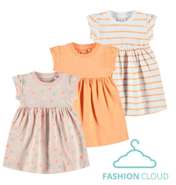 Bilde av 3 stk kjoler, cantaloupe,