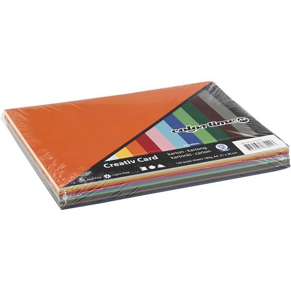 Bilde av kartong i 12 farger, 180g A4