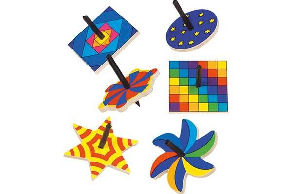Bilde av Tre snurrebass i fargerike