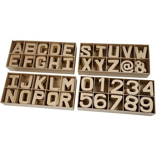 Bilde av Pappmache bokstaver og tall.