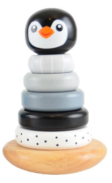 Bilde av Stabletårn i tre, pingvin.