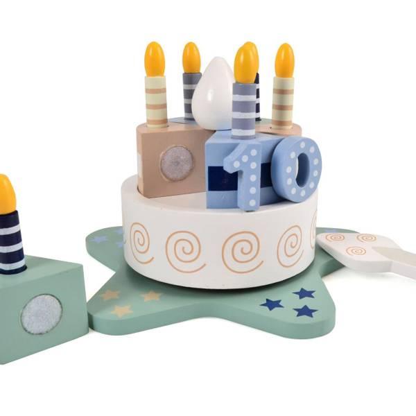 Bilde av Bursdagskake i tre med tall