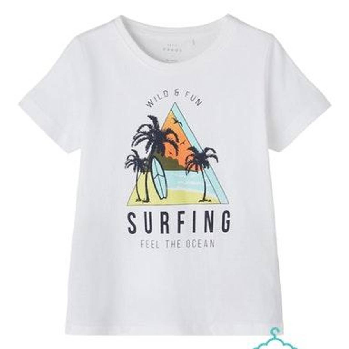 Surfing tskjorte, Bright white, Name it