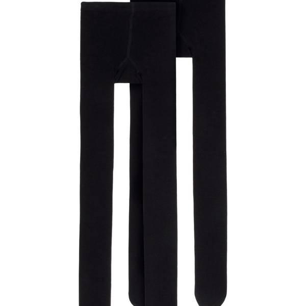 Bilde av Bomulls strømpebukse i sort,