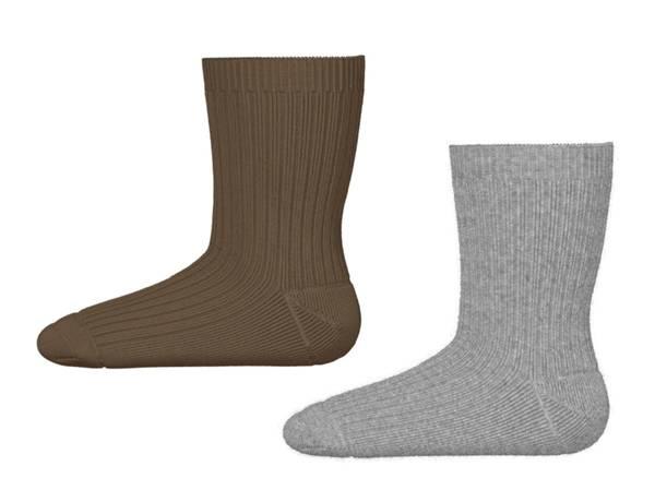 Bilde av 2 pk sokker grå/brun, Name it