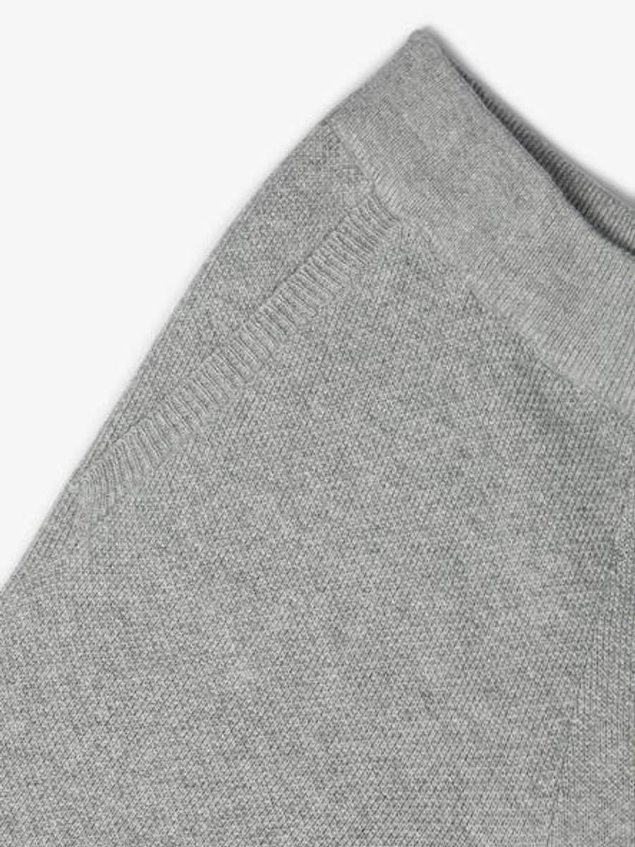 strikket bomullsbukse, grey melange, Name it