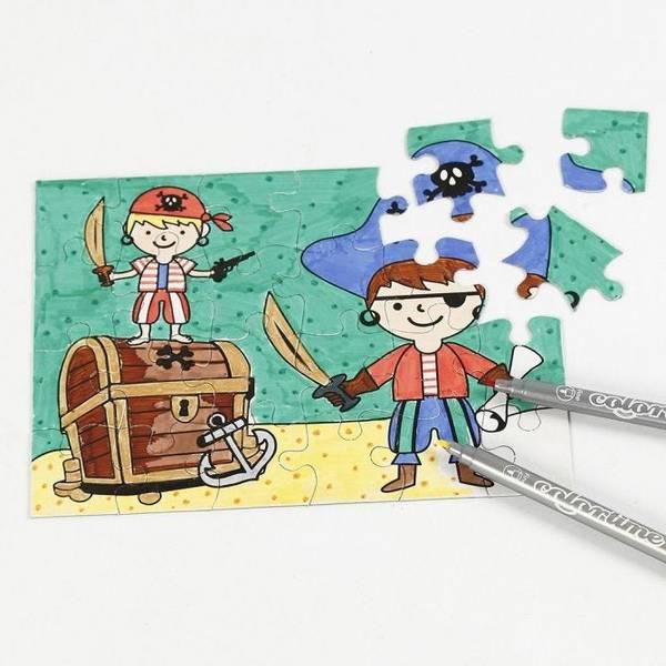 Bilde av puslespill pirat 2pk