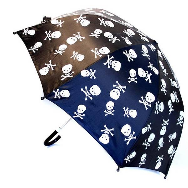 Bilde av Paraply med skulls