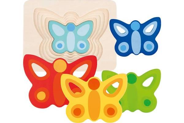 Bilde av Sommerfugl tre puslespill i