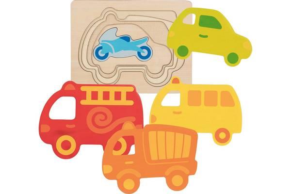 Bilde av kjøretøy tre puslespill i