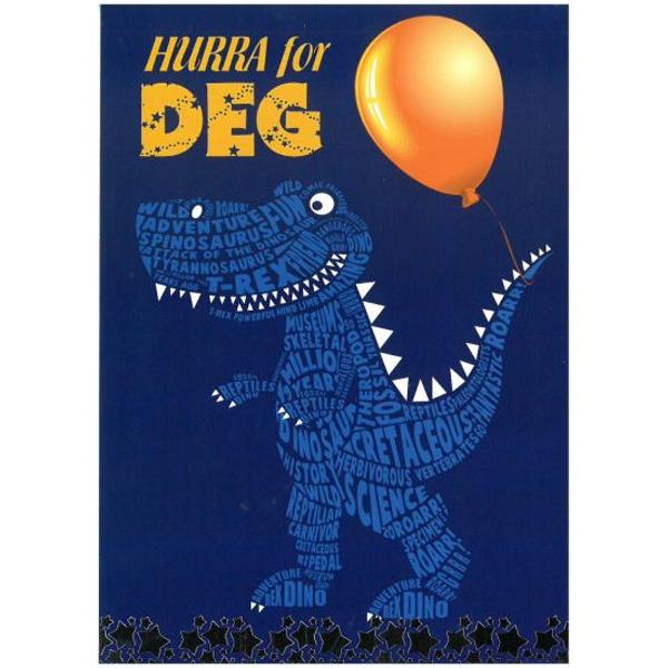 Bilde av Bursdagskort, dinosaur