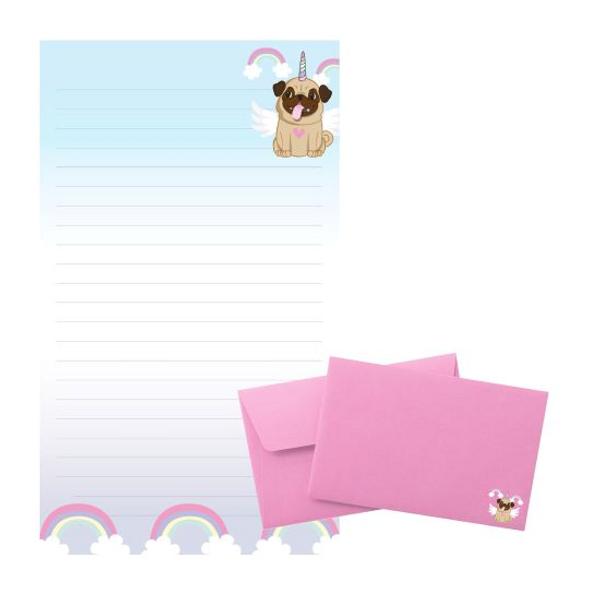 Bilde av Tinka brevpost, hund med rosa
