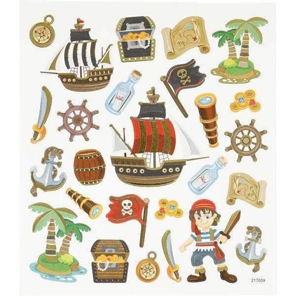 Bilde av Klistremerker pirater