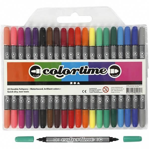 Bilde av Dobbelttusjer klare farger