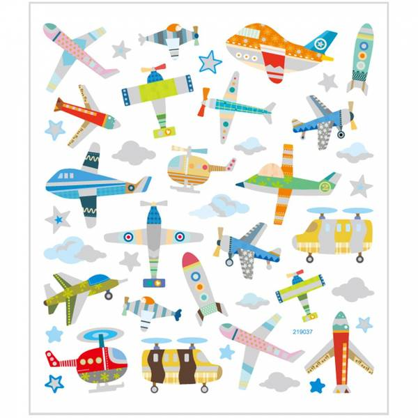 Bilde av Klistremerker med fly og
