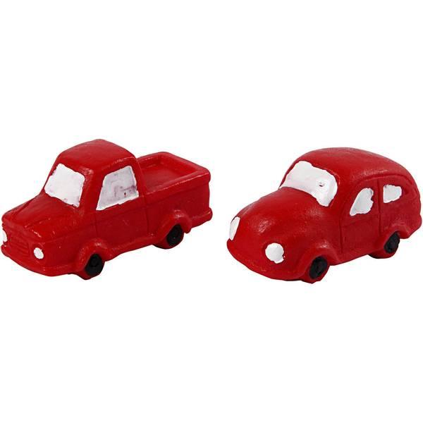 Bilde av Minifigur rød biler 2 stk