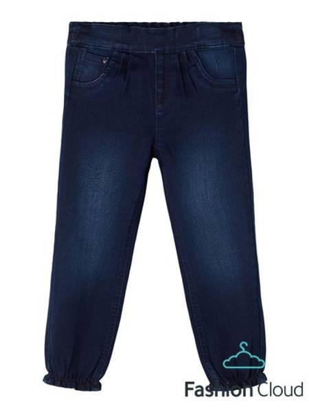 Bilde av Vide jeans med strikk i livet