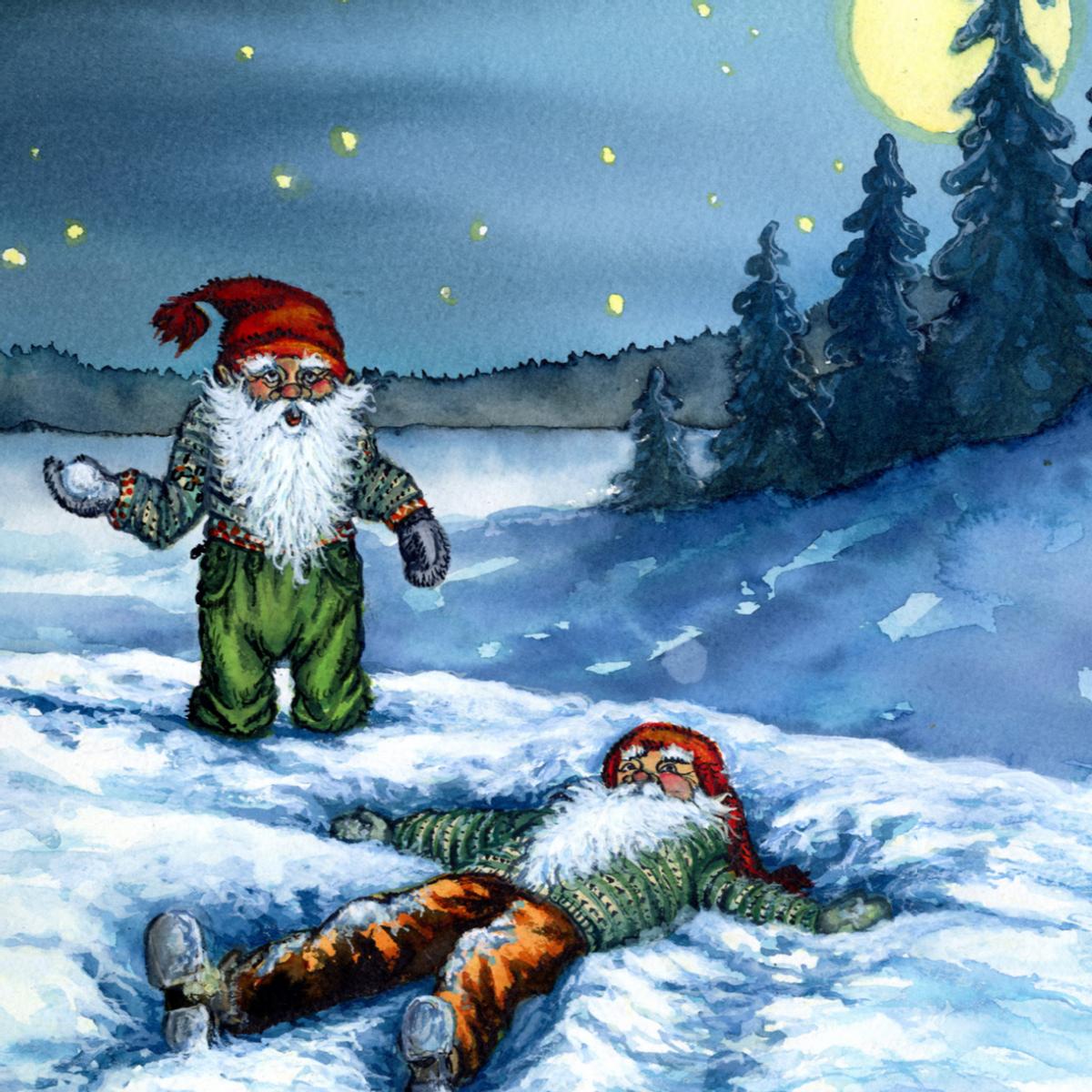 Julekort med motiv fra julens minnebok 18 stk.