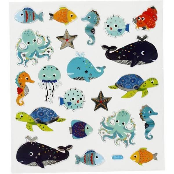 Bilde av Klistremerker Havets dyr