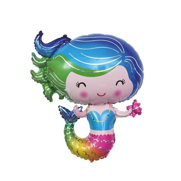 Bilde av folie ballong havfrue figur