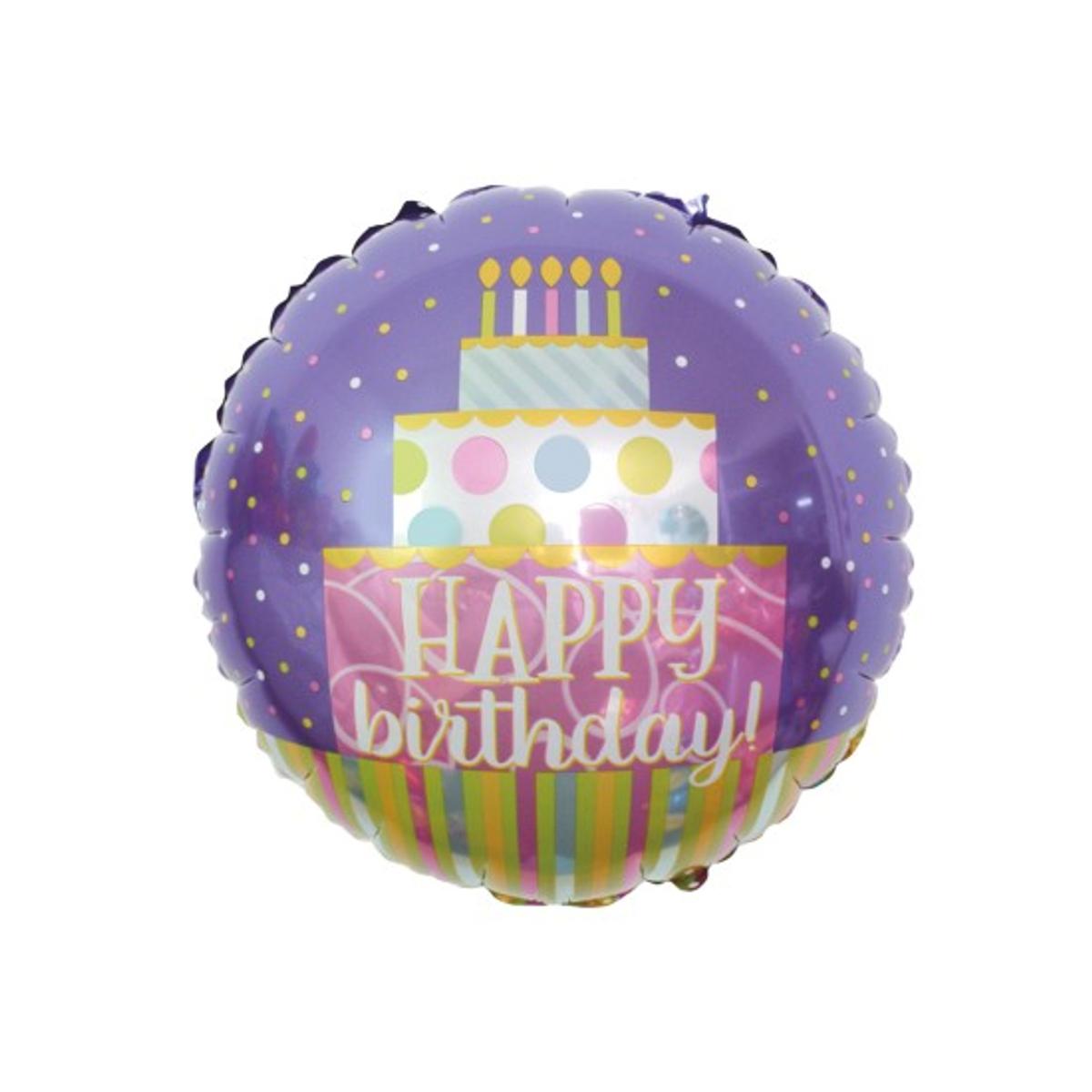 folie ballong happy birthday kake