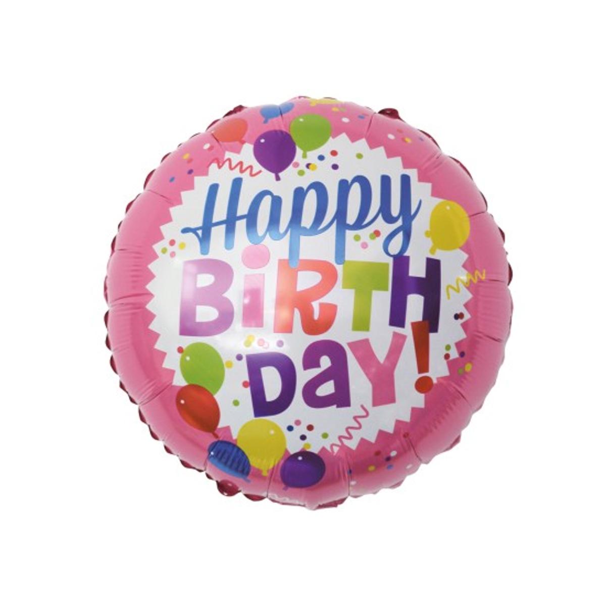 folie ballong happy birthday rosa