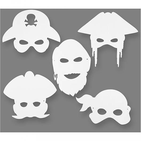 Bilde av Piratmasker 5 forskjellige