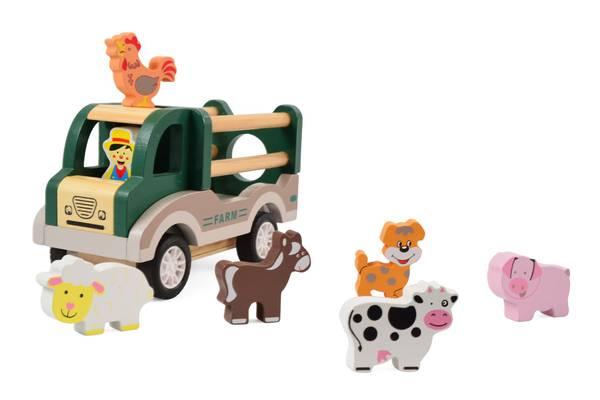 Bilde av Trelastebil med gårdsdyr, og