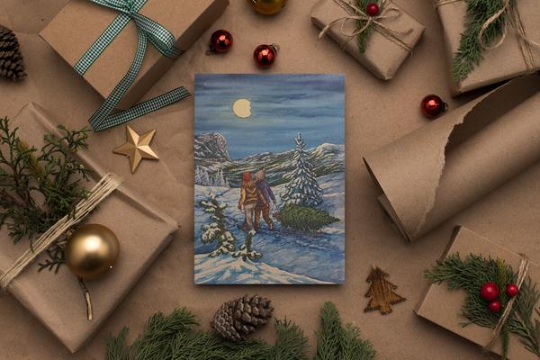 Bilde av Julekort med motiv fra julens