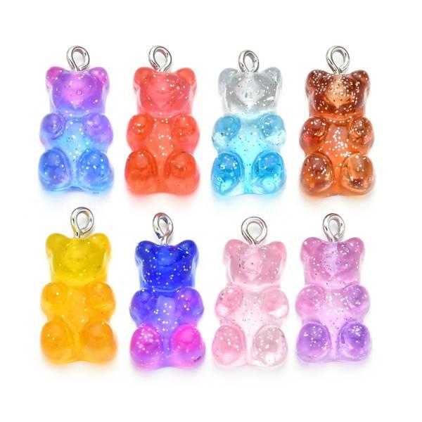 Bilde av glittrende gummybears anheng