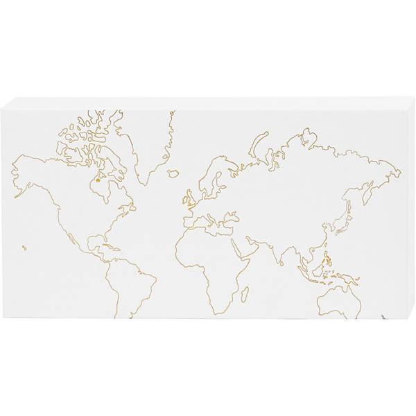 Bilde av Lerret med verden i gulltrykk