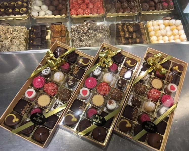 Belgisk konfekt 21 biter ass. i eske