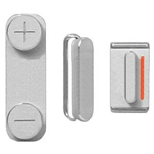 Bilde av Iphone 5 Sølv Sideknapper: