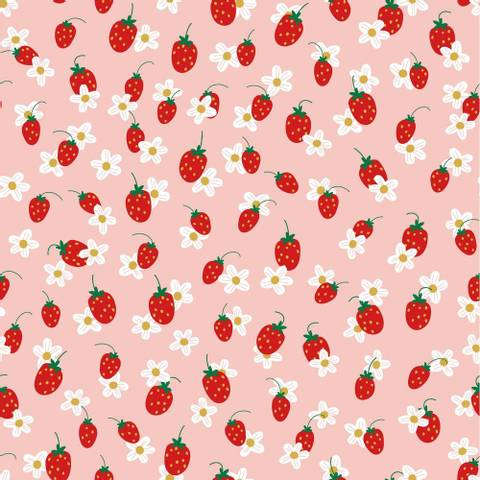 Bilde av Jordbær Rosa - Jersey GOTS