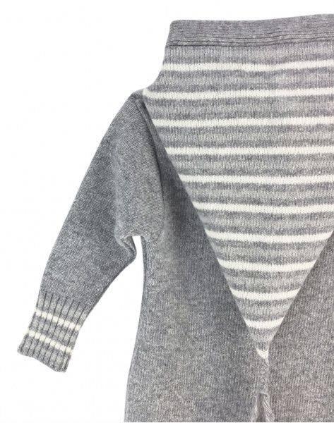 Stripe ull hooded heldress