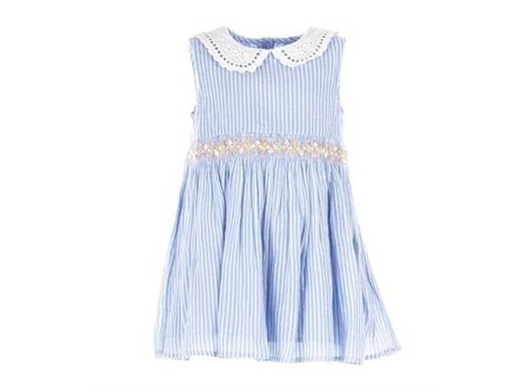 Ebba kjole blå