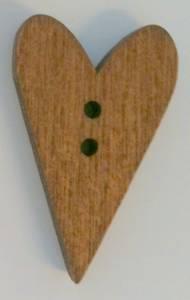 Bilde av hjerteknapp mørk tre