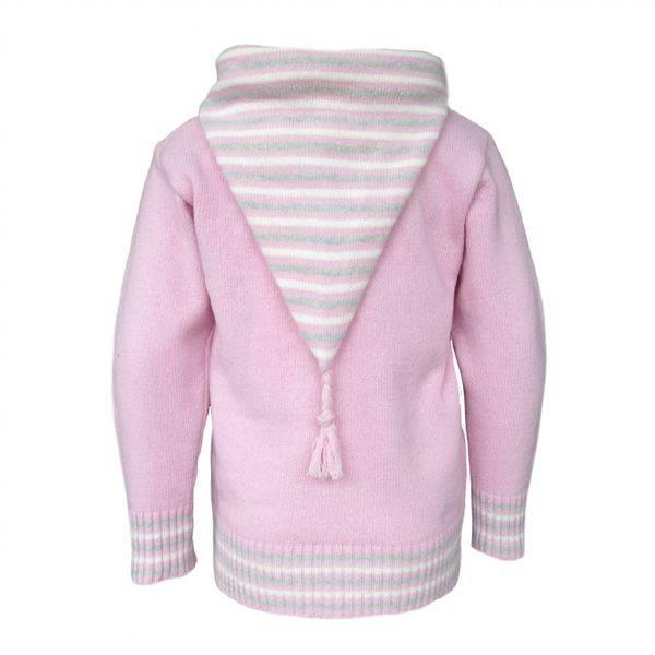 Stripe hettegenser rosa