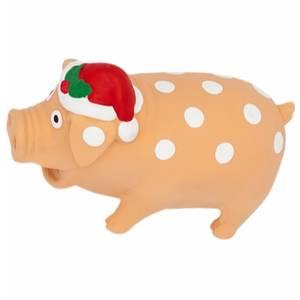 Bilde av Julens Hundeleke Stor JuleGris, Grynte Lyd - Julegave Hund