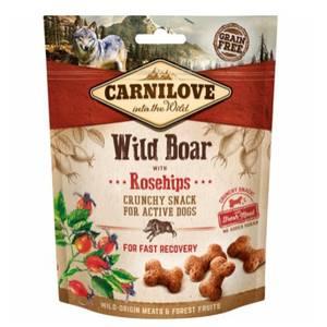 Bilde av Crunchy Wild Boar with Rosehips, Carnilove - Godbit Hund