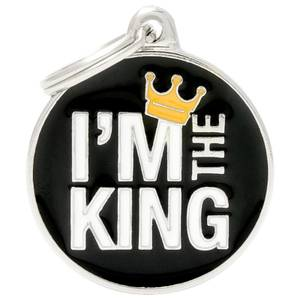 Bilde av ID Tag My Family Charms I'm The King, Hund - ID Brikke