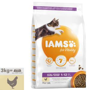 Bilde av 3 kg Iams Kitten & Junior Vitality, Chicken - Kattemat