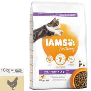 Bilde av 10 kg Iams Kitten & Junior Vitality, Chicken - Kattemat