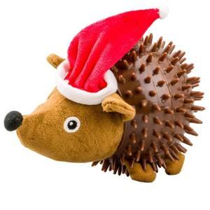 Bilde av Juleleke hund, Pinnsvin nisse - Julegave Hund