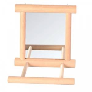 Bilde av Speil til Undulat Trixie - Treramme & sittepinne