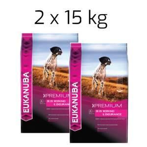 Bilde av 2 x 15 kg Eukanuba Adult Working & Endurance