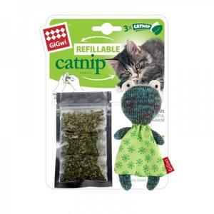 Bilde av GiGwi Catnip Katteleke Refillable Catnip frosk katteleke.